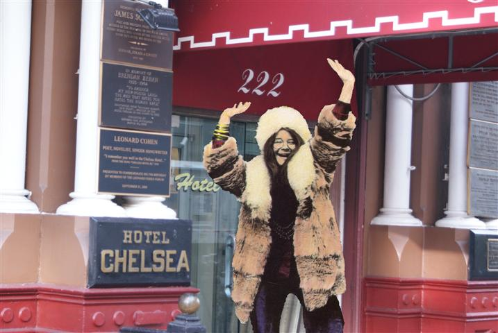 Janis in front of the Chelsea